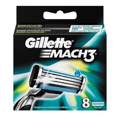 Dagaanbieding - Gillette Mach 3 Scheermesjes 8 Stuks ** dagelijkse aanbiedingen