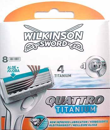 Dagaanbieding - Wilkinson Quattro Titanium Mesjes 8 stuks dagelijkse aanbiedingen