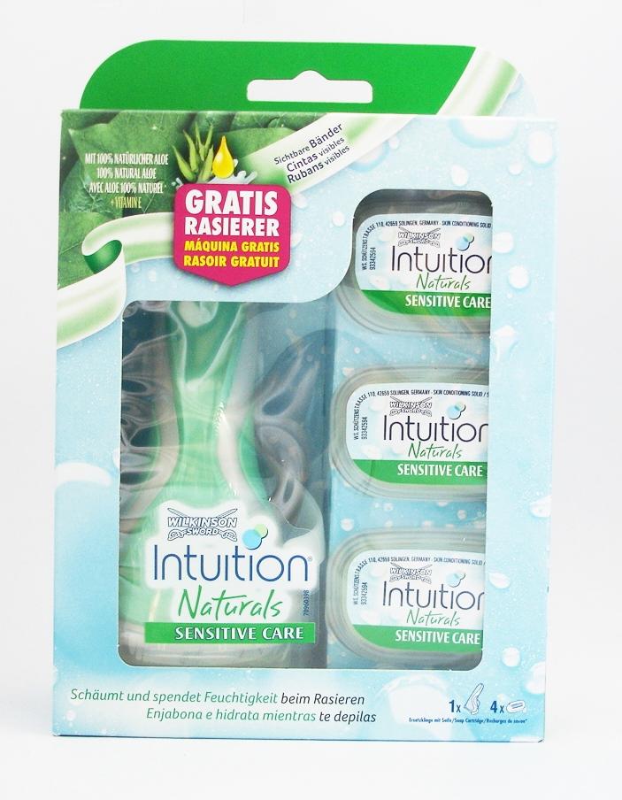Dagaanbieding - Wilkinson Sword Combi Intuition Naturals Sensitive Systeem + 3 mesjes dagelijkse aanbiedingen