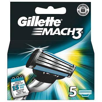 Dagaanbieding - Gillette Mach3 Scheermesjes 5 Stuks dagelijkse aanbiedingen