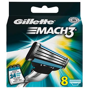 Dagaanbieding - Gillette Mach3 Scheermesjes 8 Stuks dagelijkse aanbiedingen