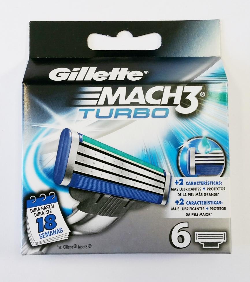 Dagaanbieding - Gillette Mach3 Turbo Scheermesjes 6 Pack dagelijkse aanbiedingen