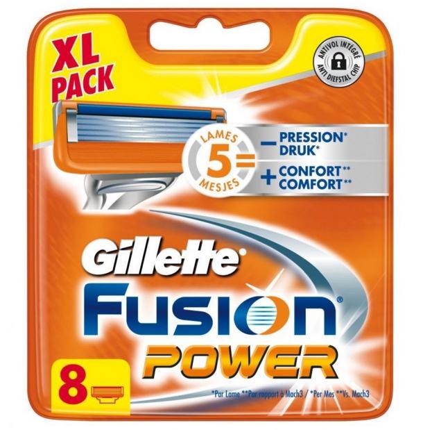 Dagaanbieding - Gillette Fusion Power Scheermesjes 8 stuks dagelijkse aanbiedingen