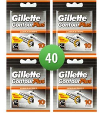 Dagaanbieding - Gillette Combi Scheermesjes Contour Plus 40 mesjes dagelijkse aanbiedingen