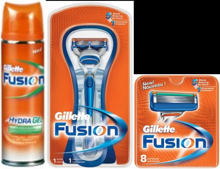 Dagaanbieding - Gillette Combi Fusion Systeem + 8 mesjes + Scheergel dagelijkse aanbiedingen
