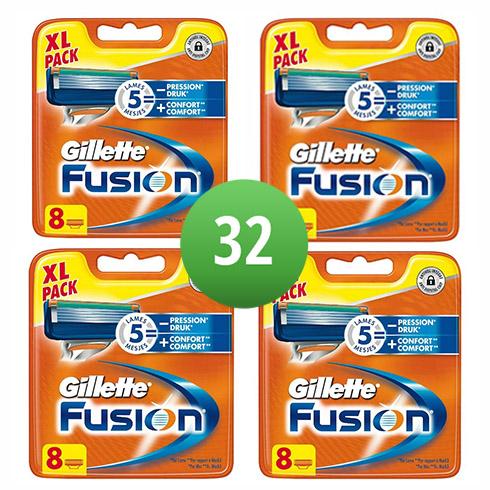 Dagaanbieding - Gillette Combi Scheermesjes Fusion 32 mesjes dagelijkse aanbiedingen
