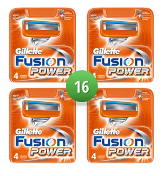 Dagaanbieding - Gillette Combi Scheermesjes Fusion Power 16 mesjes dagelijkse aanbiedingen