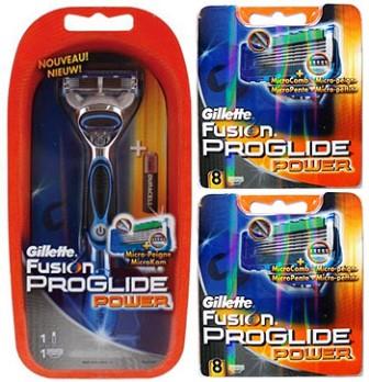 Dagaanbieding - Gillette Combi Fusion ProGlide Power Systeem + 16 mesjes dagelijkse aanbiedingen