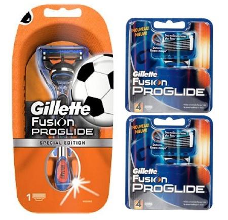 Dagaanbieding - Gillette Combi Fusion ProGlide Apparaat + 8 Scheermesjes Voetbal dagelijkse aanbiedingen