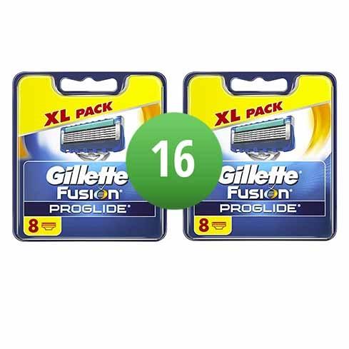 Dagaanbieding - Gillette Combi Scheermesjes Fusion ProGlide 16 mesjes 2x8 dagelijkse aanbiedingen