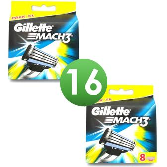 Dagaanbieding - Gillette Combi Scheermesjes Mach3 16 (2x8) mesjes *nieuw* dagelijkse aanbiedingen