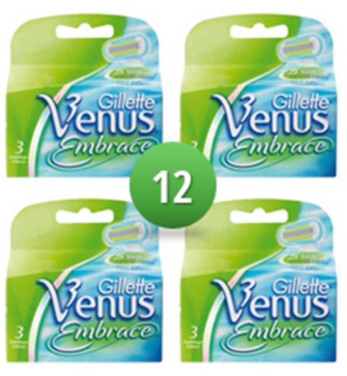 Dagaanbieding - Gillette Combi Scheermesjes Venus Embrace 12 mesjes dagelijkse aanbiedingen