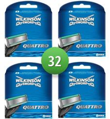 Dagaanbieding - Wilkinson Sword Combi Scheermesjes *Quattro* 32 mesjes dagelijkse aanbiedingen