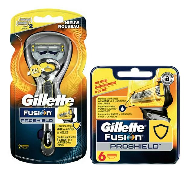 Dagaanbieding - Gillette Fusion ProShield Combi Houder incl 8 mesjes dagelijkse aanbiedingen