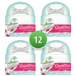 Wilkinson Sword Combi Quattro For Women Sensitive 12 scheermesjes