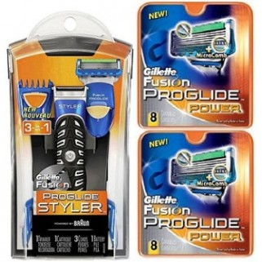 Gillette Combi Fusion ProGlide Styler Systeem + 16 mesjes
