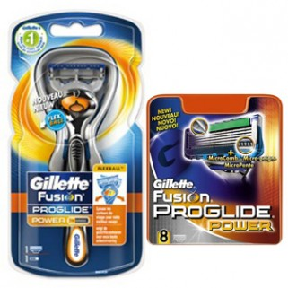 Gillette Combi Fusion Proglide Flexball Power Houder incl 9 Power scheermesjes