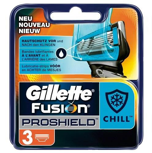 Dagaanbieding - Gillette Fusion ProShield scheermesjes Chill 3 stuks dagelijkse aanbiedingen