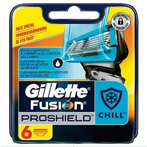 Dagaanbieding - Gillette Fusion ProShield scheermesjes Chill 6 stuks dagelijkse aanbiedingen