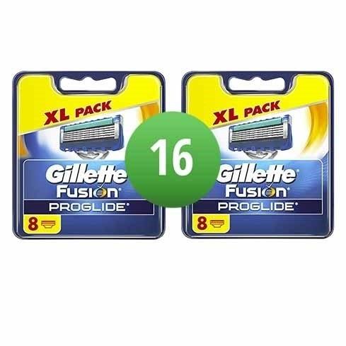 Dagaanbieding - Gillette Fusion ProGlide 16 mesjes dagelijkse aanbiedingen