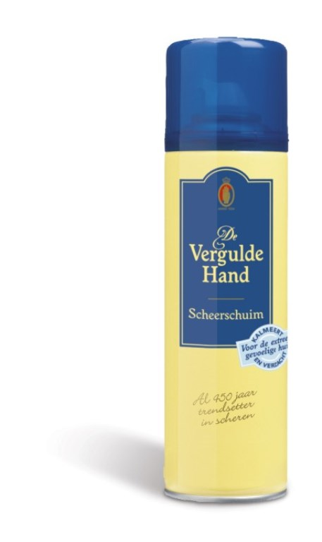 Vergulde Hand Scheerschuim Extra Gevoelige Huid 200ml