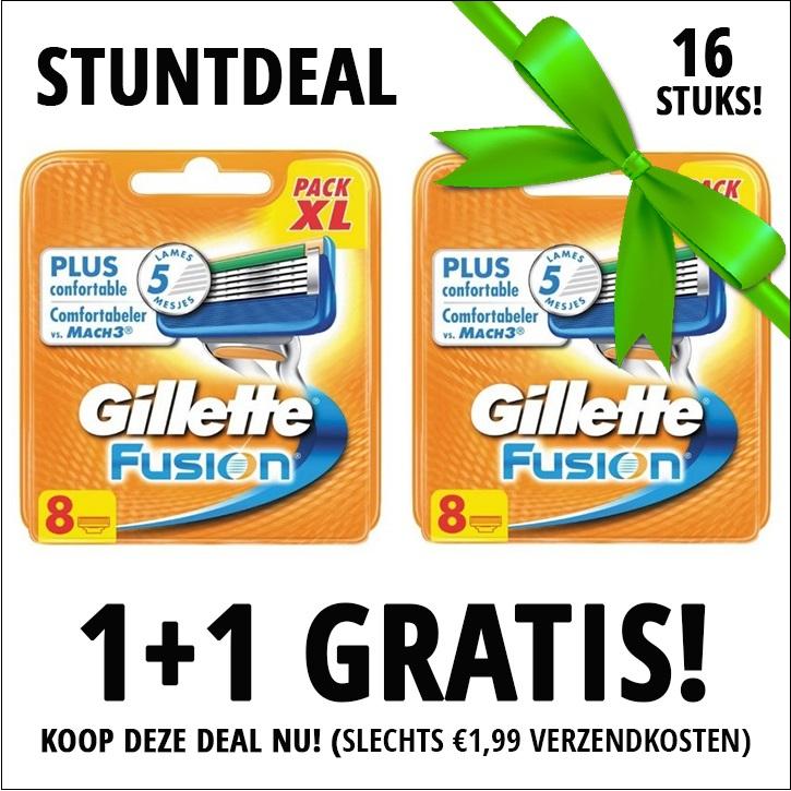 Dagaanbieding - Gillette Fusion scheermesjes 1+1 8 pack Gratis dagelijkse aanbiedingen
