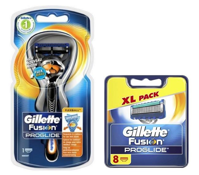 Dagaanbieding - Gillette Combi Scheerapparaat Fusion Proglide Flexball 1up + 8 mesjes dagelijkse aanbiedingen