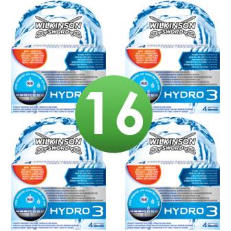 Dagaanbieding - Wilkinson Sword Combi Scheermesjes Hydro 3 16 mesjes dagelijkse aanbiedingen