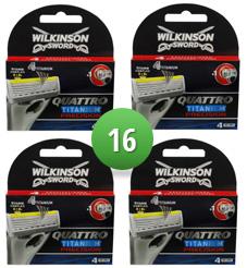 Dagaanbieding - Wilkinson Sword Combi Scheermesjes Quattro Titanium Precision 16 mesjes dagelijkse aanbiedingen