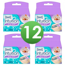 Wilkinson Sword Combi Scheermesjes Intuition Dry Skin 4x3=12 mesjes