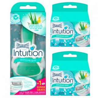 Wilkinson Sword Combi Intuition Sensitive Set Systeem + 8 mesjes