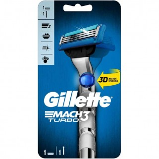 Gillette Mach3 Turbo 3D Scheersysteem incl 1 Mesje