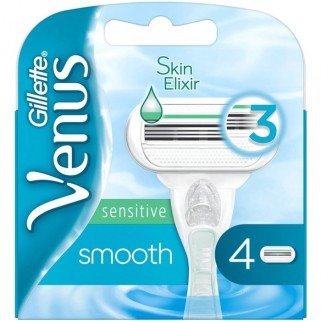 Gillette Venus Smooth Sensitive 4 Mesjes