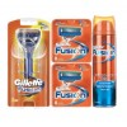 Gillette Combi Fusion Systeem + 16 mesjes + Gel