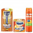 Gillette Combi Fusion Scheersysteem incl 10 Mesjes + Ultra Sensitive Gel 200ml