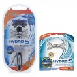 Wilkinson Combi Hydro5 Houder + 9 Mesjes Limited Edition Black Chrome