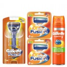 Gillette Combi Fusion Scheersysteem incl 18 Mesjes + Ultra Sensitive Gel 200ml