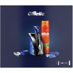 Gillette Fusion ProGlide Styler Cadeauset incl Fusion5 Ultra Sensitive Gel 200ml + Standaard