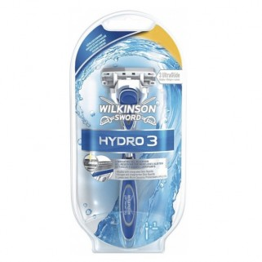 Wilkinson Hydro 3 Scheersysteem incl 1 Mesje + GRATIS Opleghouder