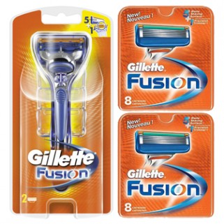 Gillette Combi Fusion Systeem incl 18 mesjes