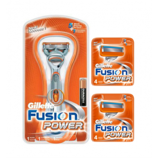 Gillette Combi Fusion Power Systeem + 8 mesjes