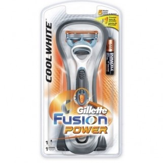 Gillette Fusion Power Cool White houder incl 1 mesje
