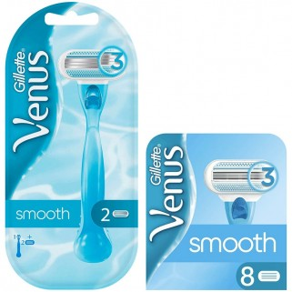 Gillette Venus Smooth Scheersysteem incl 10 Mesjes