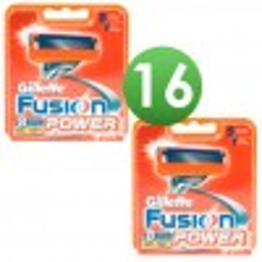Gillette Combi Scheermesjes Fusion Power 16 stuks = 2 x 8 mesjes