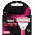 Wilkinson Quattro For Women Mesjes 3 stuks