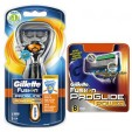 Gillette Combi Fusion Proglide Flexball Power Houder incl 9 Power scheermesjes