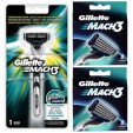 Gillette Combi Mach3 Scheersysteem incl 17 mesjes