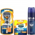 Gillette Combi Fusion ProGlide Power Systeem incl 9 mesjes + Cooling Scheergel