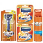 Gillette Combi Fusion Systeem incl 18 mesjes + Hydra Gel Hydrating 200ml