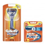 Gillette Combi Fusion Systeem incl 9 mesjes